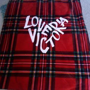Victoria secret sherpa  throw blanket
